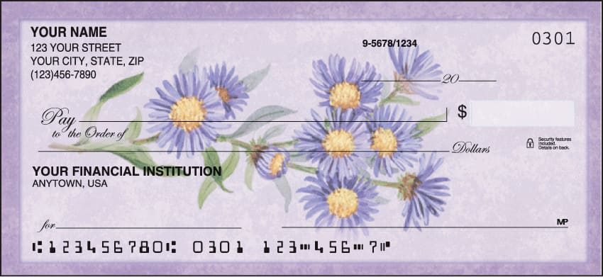american wildflowers checks - click to preview