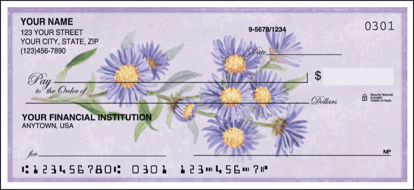 American Wildflowers Side Tear Checks - click to preview