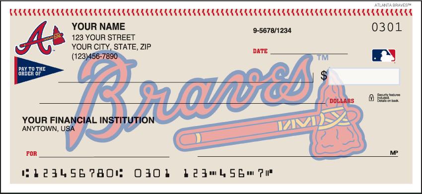 MLB - Atlanta Braves Checks - click to view larger image