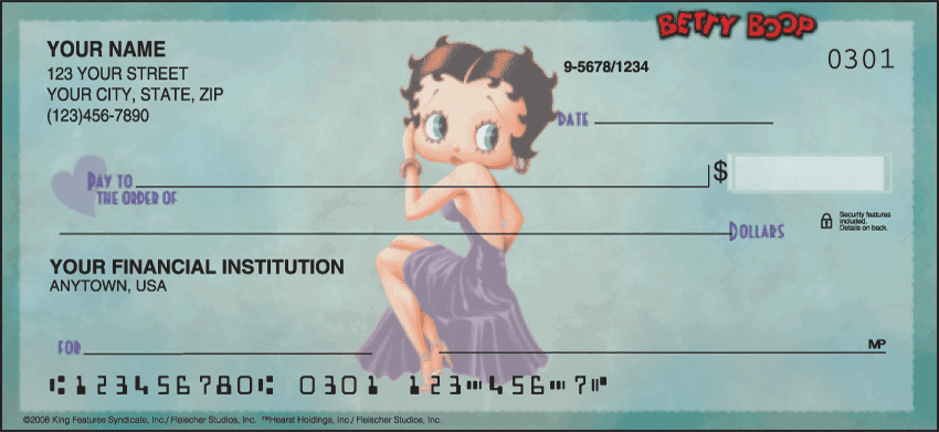 Betty Boop Checks - click to preview
