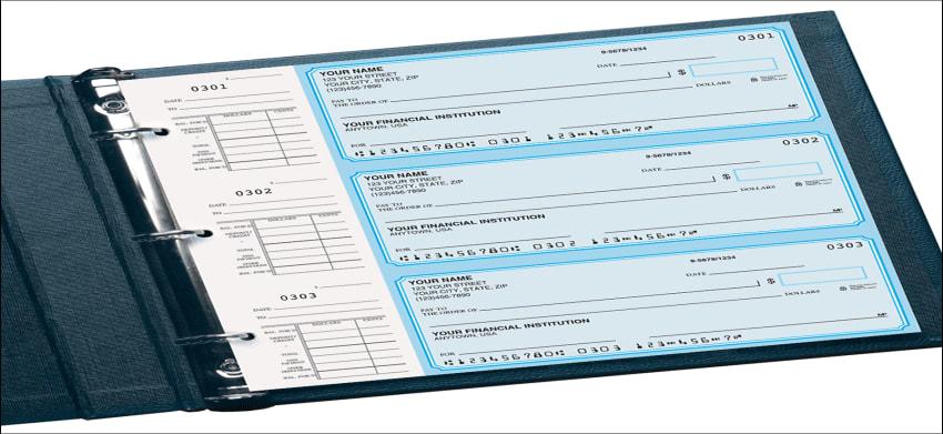 blue classic desk set checks - click to preview
