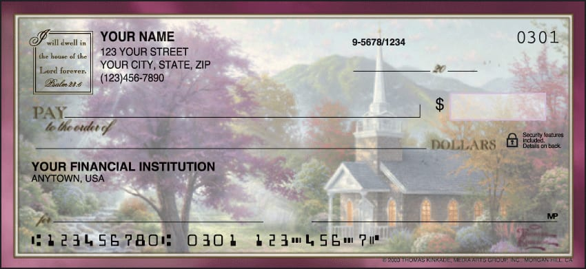 Thomas Kinkade Churches Checks - click to view larger image