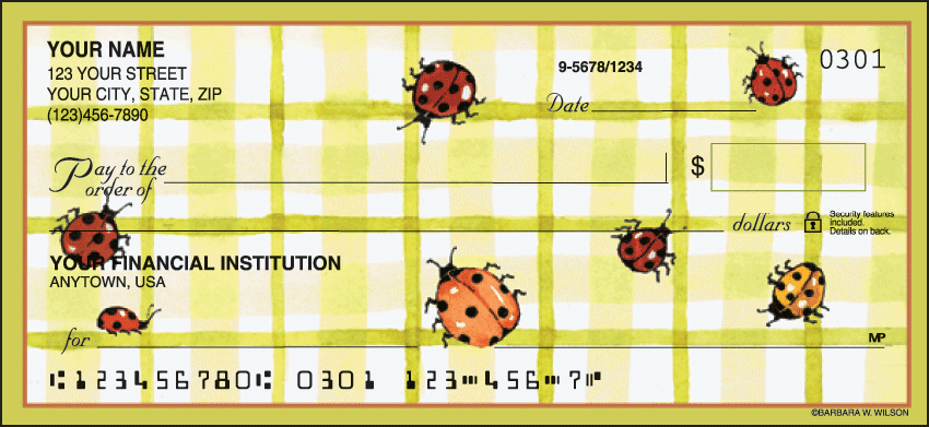 cute as a bug checks - click to preview