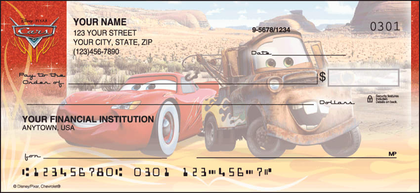 Disney/Pixar Cars Checks - click to view larger image