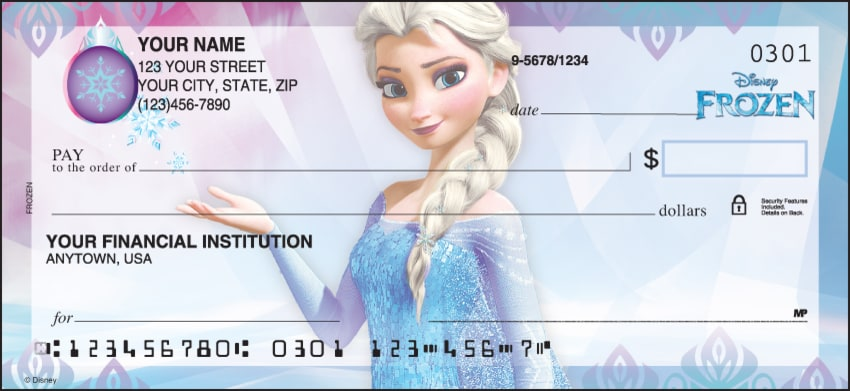 disney's frozen checks - click to preview