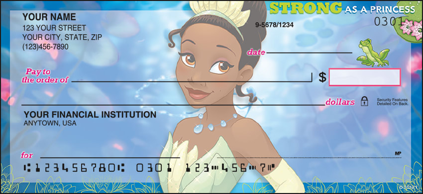 disney princess checks - click to preview
