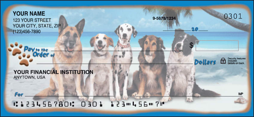 Enlarged view of dog adventures checks