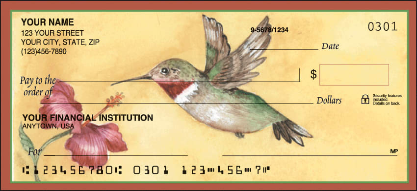 Hummingbirds Checks - click to preview