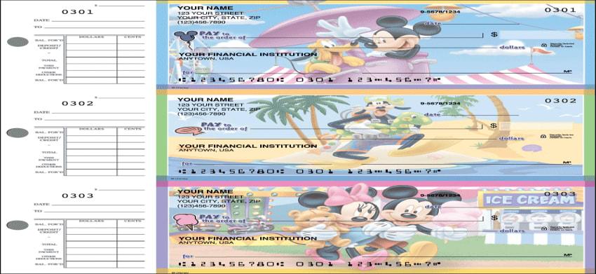 Mickey Mouse Desk Set Checks - click to preview