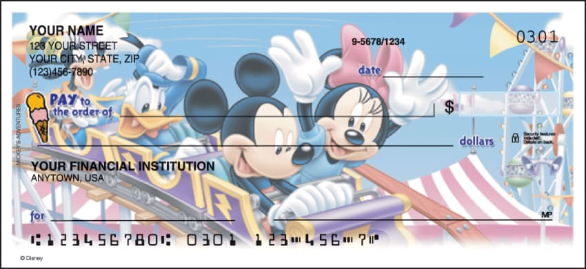 mickey mouse side tear checks - click to preview