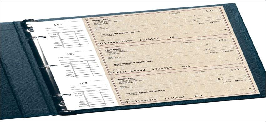 parchment desk set checks - click to preview