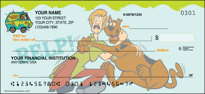 scooby-doo checks - click to preview