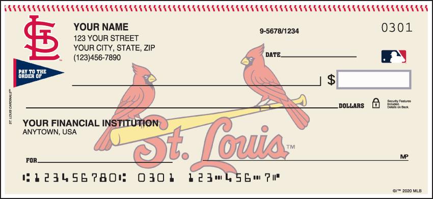MLB - St. Louis Cardinals Checks - click to view larger image