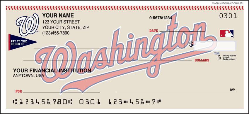 MLB - Washington Nationals Checks - click to view larger image