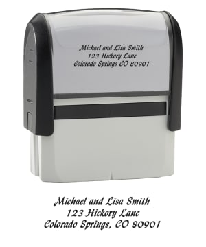 Enlarged view of calligraphy stamper