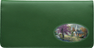 Enlarged view of Thomas Kinkade Churches Checkbook Cover