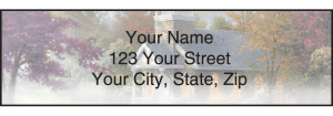 Enlarged view of Thomas Kinkade Churches Address Labels