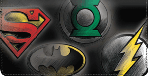 DC Super Heroes Checkbook Cover – click to view product detail page