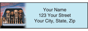 Enlarged view of Dog Adventures Address Labels