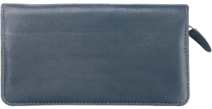 Enlarged view of Elite Black Zippered Checkbook Cover