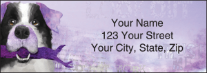 Enlarged view of good dog address labels