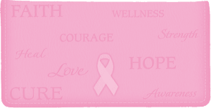 Enlarged view of Hope for the Cure Breast Cancer Awareness Side Tear Checkbook Cover