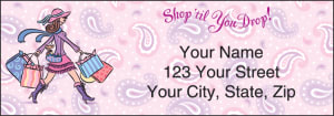 Enlarged view of Pampered Girls Address Labels