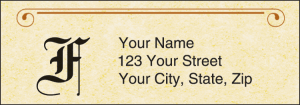 Parchment Monogram Address Labels – click to view product detail page