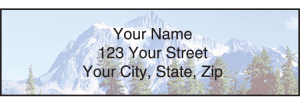 Enlarged view of peaceful panoramas address labels