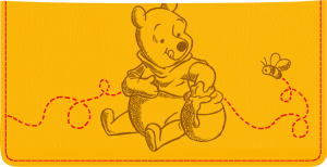 Enlarged view of Winnie the Pooh Checkbook Cover