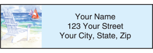 Enlarged view of Seaside Address Labels