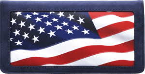Enlarged view of Stars and Stripes Side Tear Checkbook Cover