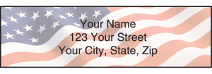 Enlarged view of Stars and Stripes Address Labels
