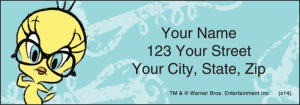 Enlarged view of Totally Tweety Address Labels