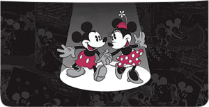 Enlarged view of Mickey and Minnie Mouse Checkbook Cover