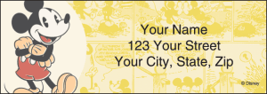 Enlarged view of Mickey Mouse Address Labels