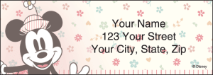 Enlarged view of Minnie Mouse Address Labels