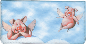 When Pigs Fly Checkbook Cover – click to view product detail page