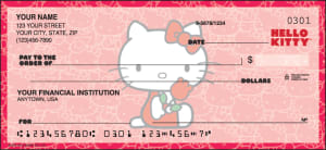 Enlarged view of hello kitty checks