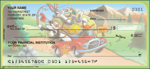 Enlarged view of looney tunes checks
