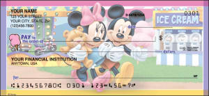 Enlarged view of mickey mouse checks