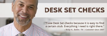 Desk Sets Personal Checks