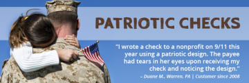Patriotic Personal Checks