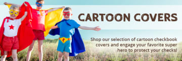 Cartoon Checkbook Covers