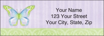 butterflies address labels - click to preview