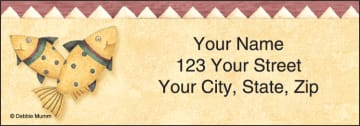cabin fever address labels - click to preview