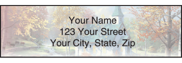 thomas kinkade churches address labels - click to preview