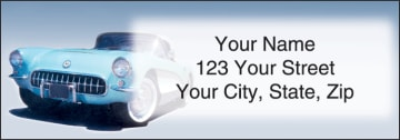 Corvette Address Labels - click to view larger image
