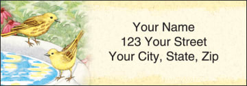 feathered friends address labels - click to preview