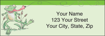 Feelin' Froggy Address Labels – click to view product detail page
